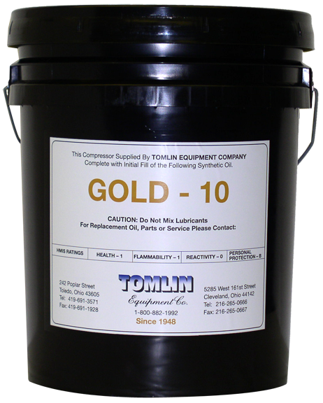 Tomlin Gold 10 Premium Synthetic Oil - 5 Gallon Pail