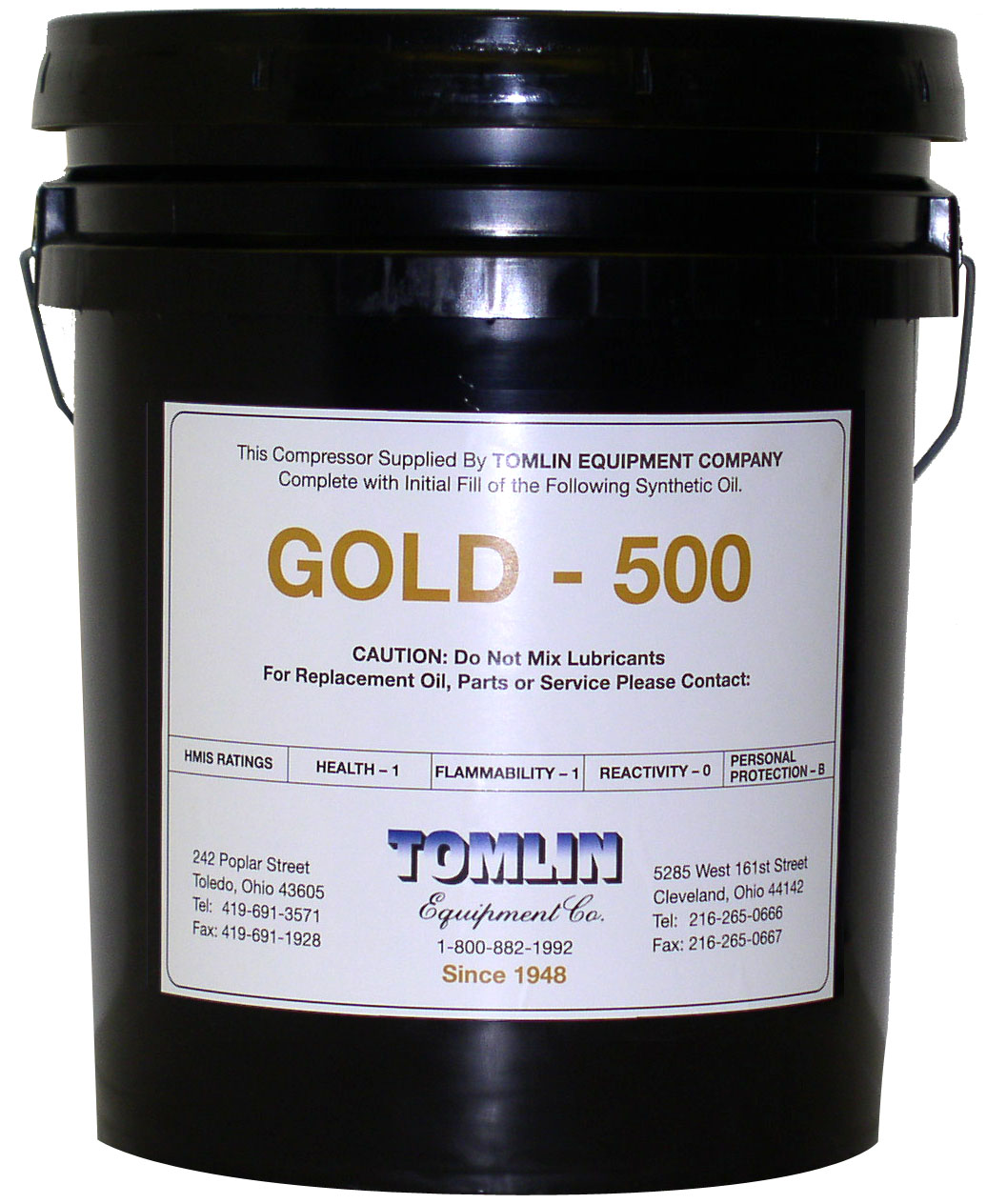 Tomlin Gold 500 Premium Synthetic Oil - 5 Gallon Pail