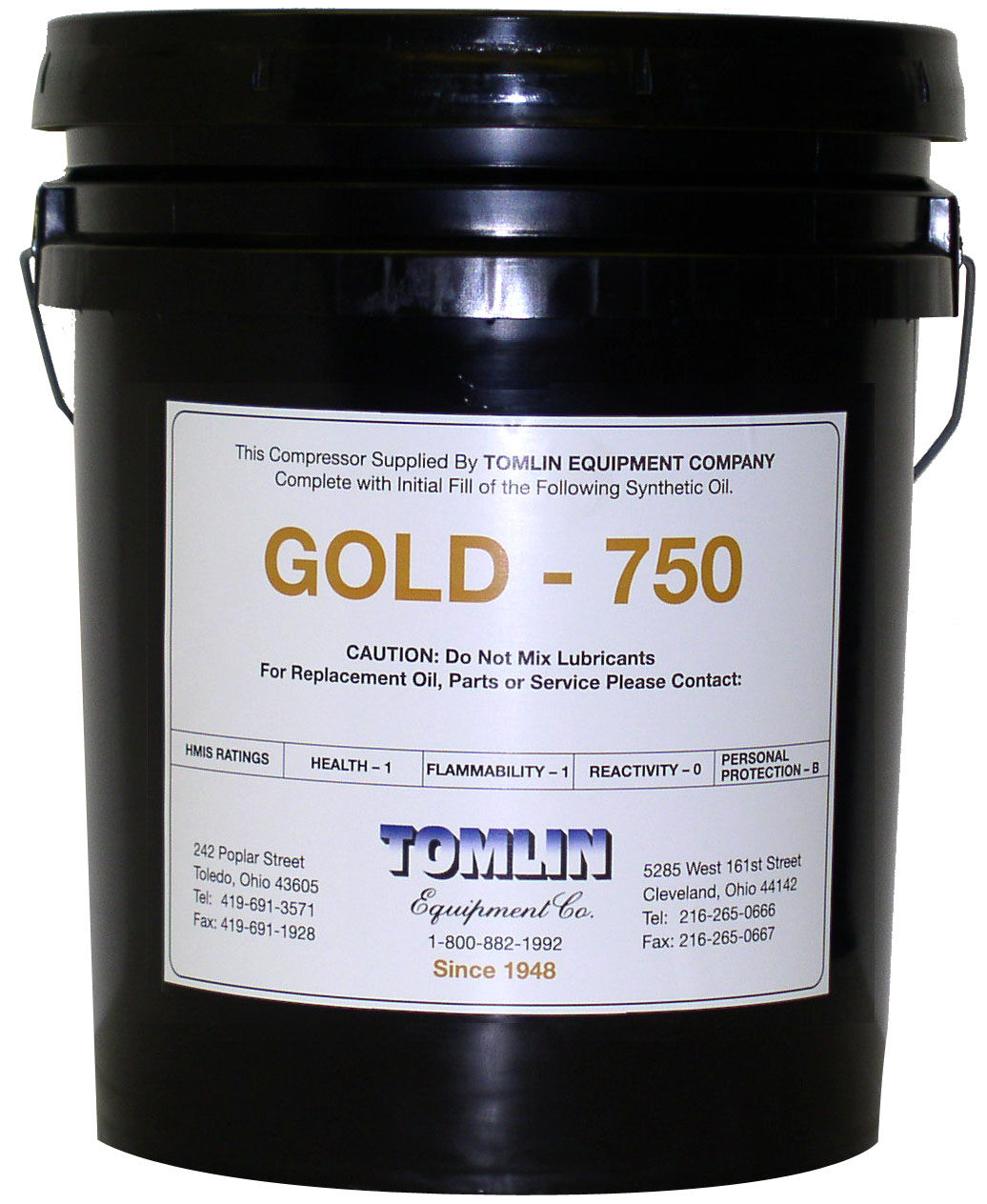 Tomlin Gold 750 Premium Synthetic Oil - 5 Gallon Pail