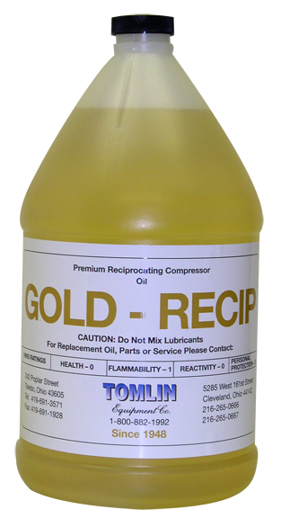 Tomlin Gold Recip Oil - Gallon